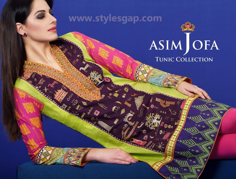 Asim Jofa Printed & Embroidered Tunics Designs Collection 2016-2017 (3)