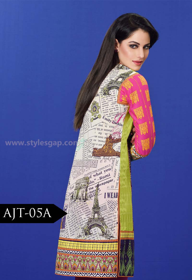 Asim Jofa Printed & Embroidered Tunics Designs Collection 2016-2017 (4)