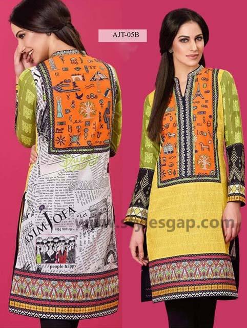 Asim Jofa Printed & Embroidered Tunics Designs Collection 2016-2017 (5)