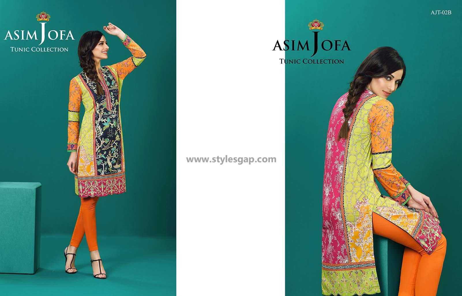 Asim Jofa Printed & Embroidered Tunics Designs Collection 2016-2017 (6)