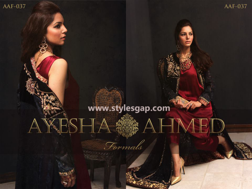 Ayesha Ahmed Formals Party Wear Dresses Designs 2016-2017 Collection (12)