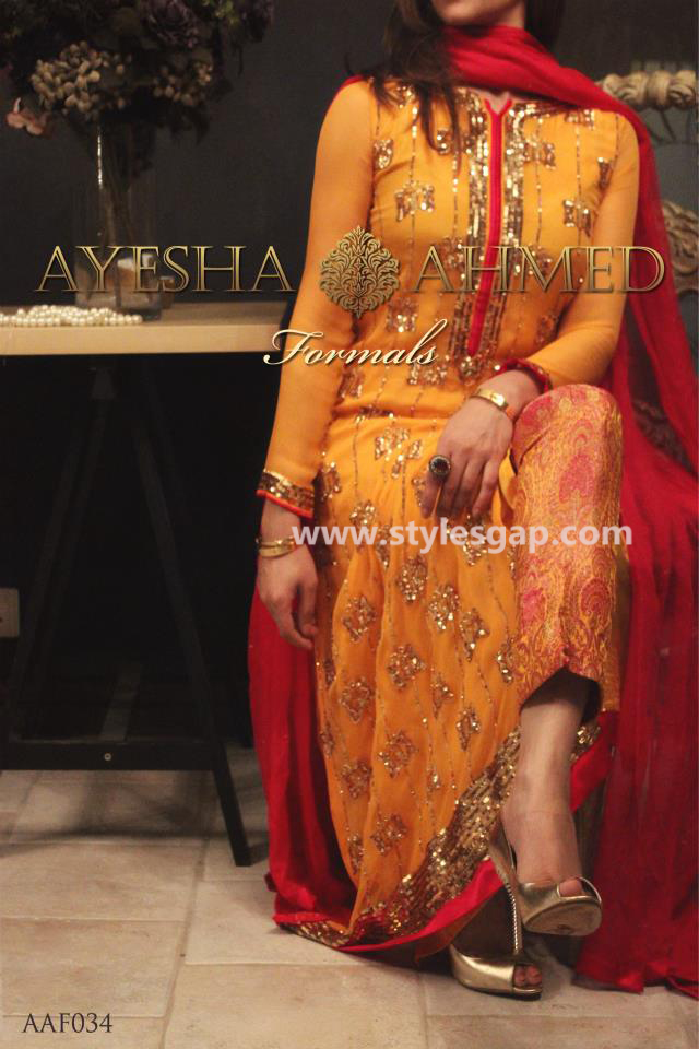 Ayesha Ahmed Formals Party Wear Dresses Designs 2018 19
