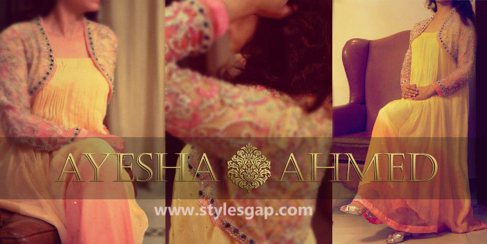 Ayesha Ahmed Formals Party Wear Dresses Designs 2016-2017 Collection (2)