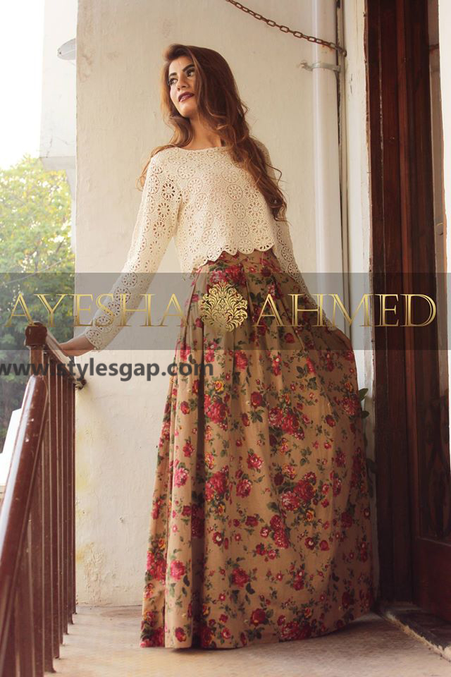 92dbc5532 Ayesha Ahmed Formals Party Wear Dresses Designs 2018-19 Collection