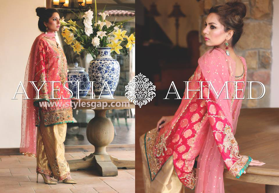 Ayesha Ahmed Formals Party Wear Dresses Designs 2016-2017 Collection (6)
