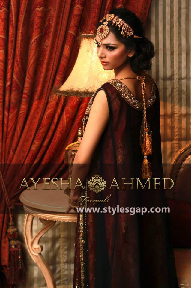 acb14ad0042 Ayesha Ahmed Formals Party Wear Dresses Designs 2018-2019 Collection