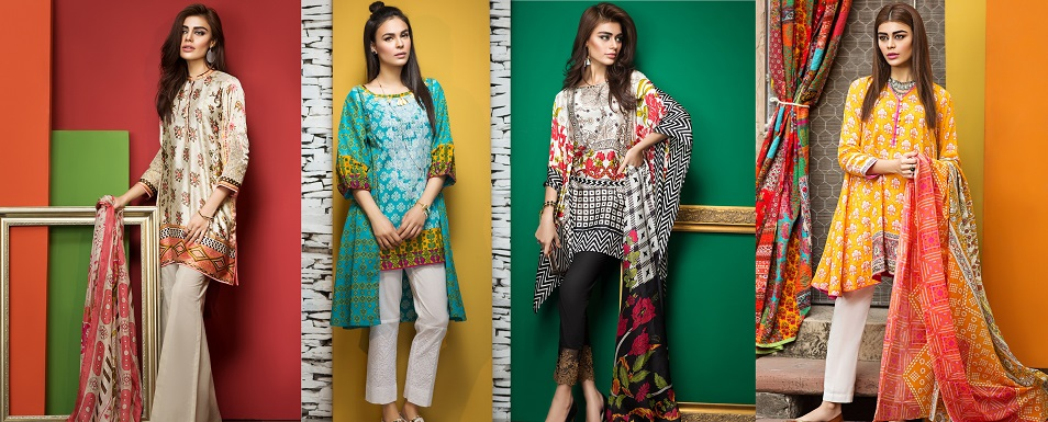 Khaadi Latest Summer Lawn Dresses Collection 2017-2018