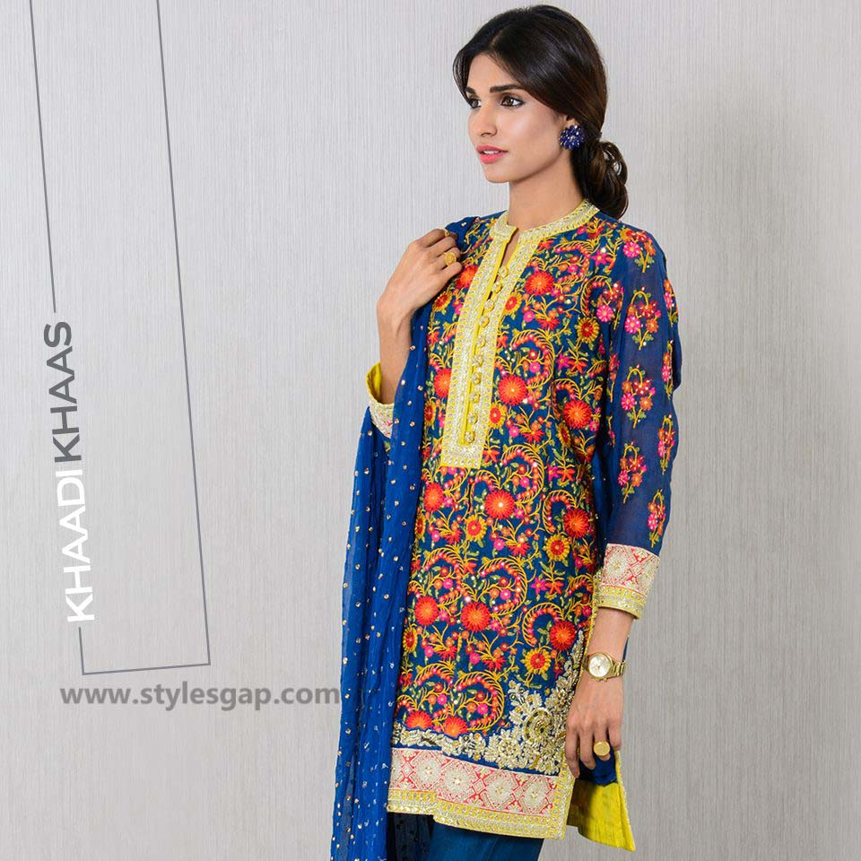 Khaadi Printed & Embroidered Tunics Designs Collection 2016-2017 (1)