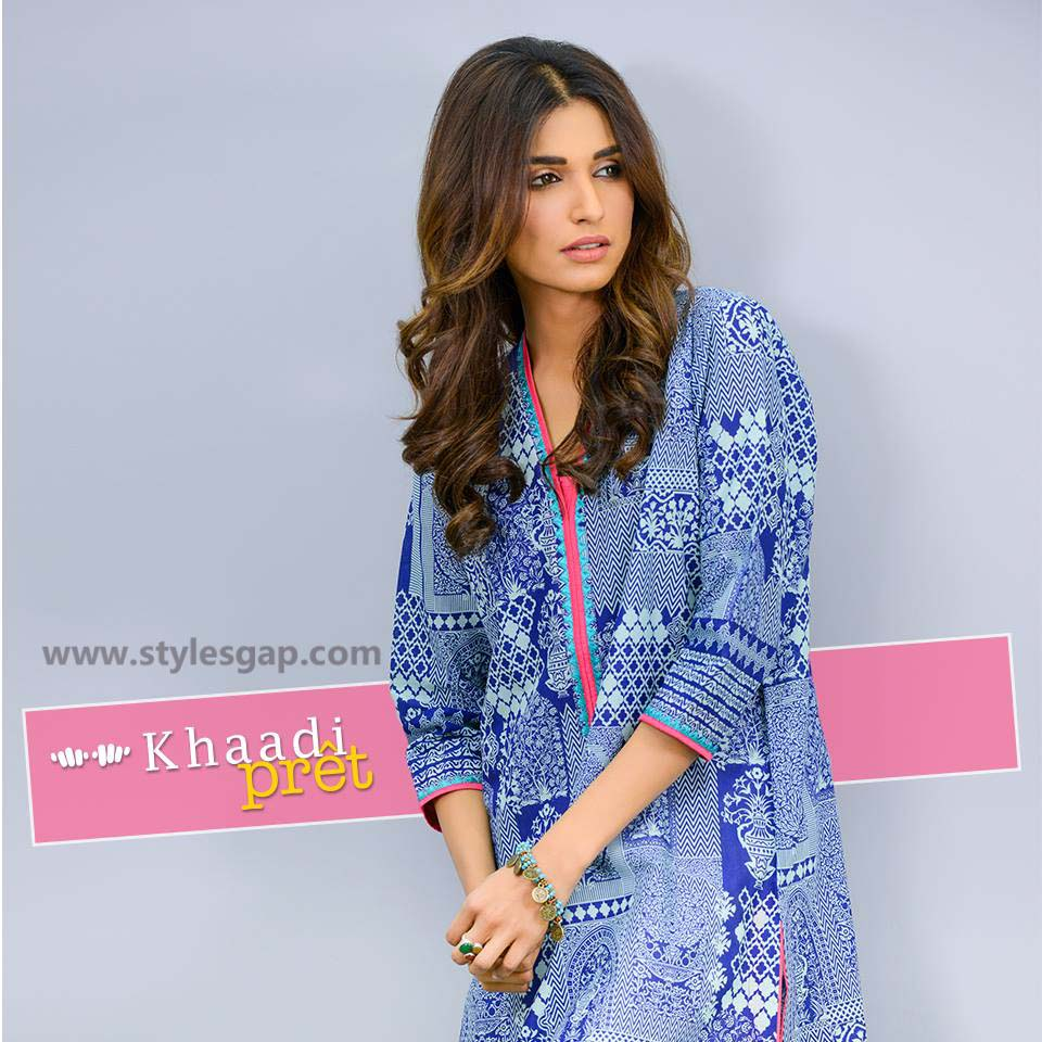 Khaadi Printed & Embroidered Tunics Designs Collection 2016-2017 (2)