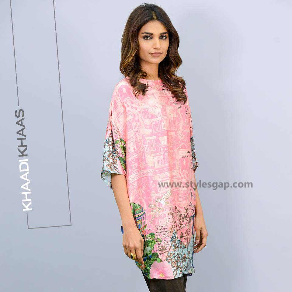 Khaadi Printed & Embroidered Tunics Designs Collection 2016-2017 (4)