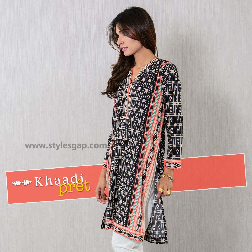 Khaadi Printed & Embroidered Tunics Designs Collection 2016-2017 (5)