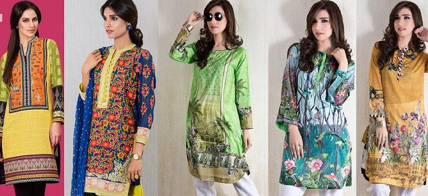 Latest Kurti Tunics Designs 2016-17 Collection for Girls