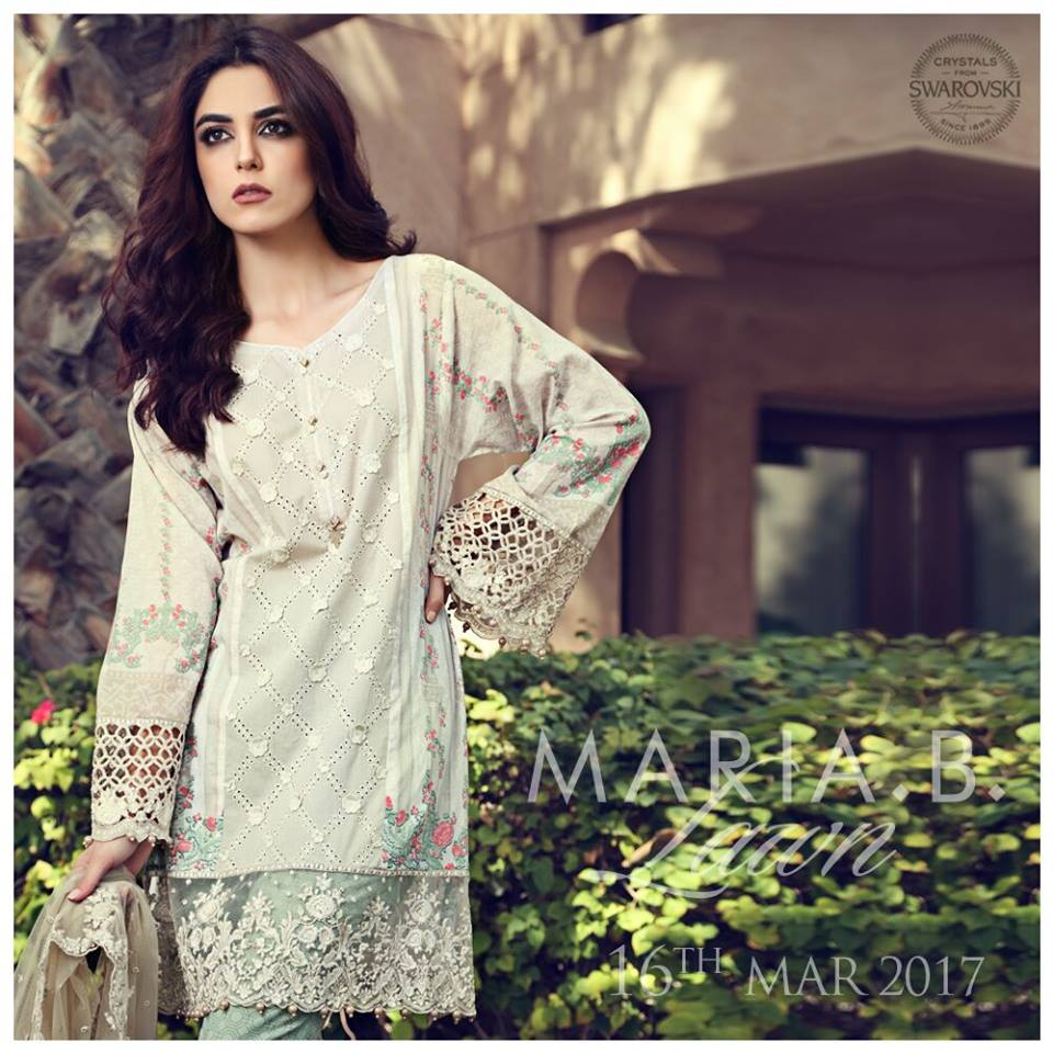 ef297fe70a Maria B Lawn Collection 2017-2018 Best Pakistani Designer Summer Dresses  (14)