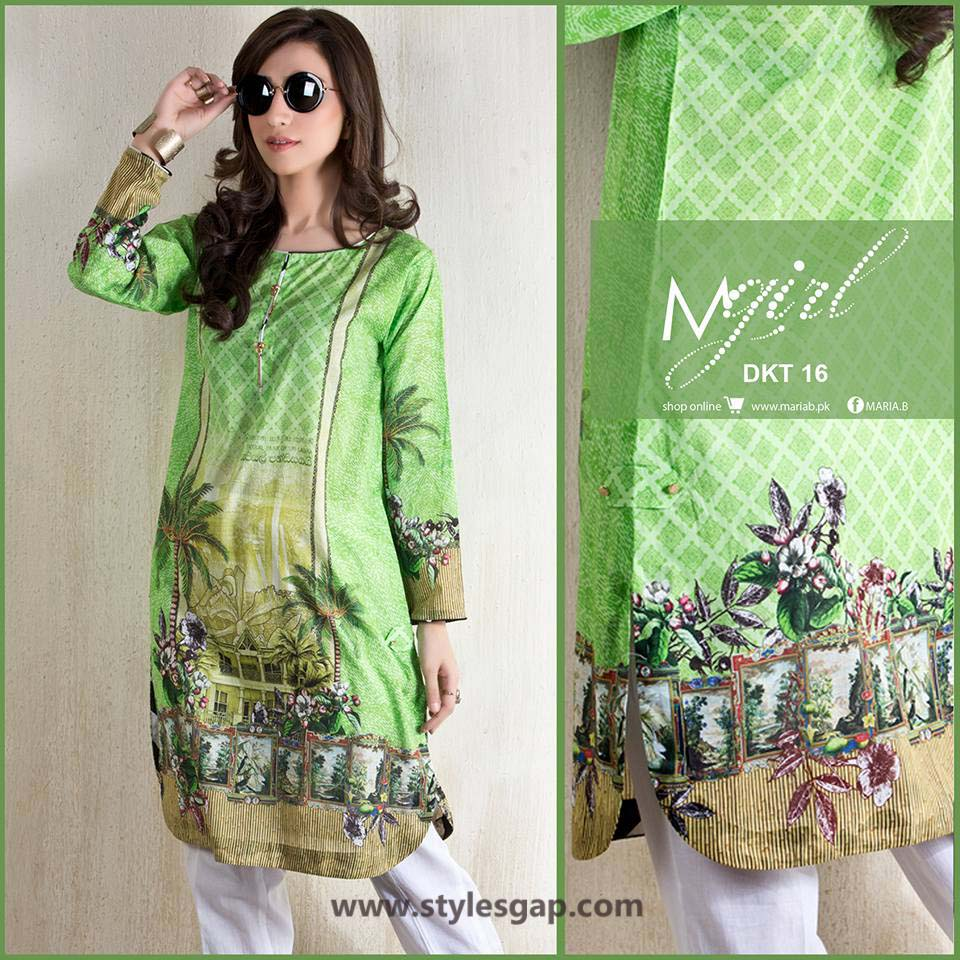 Maria B Printed & Embroidered Tunics Designs Collection 2016-2017 (1)