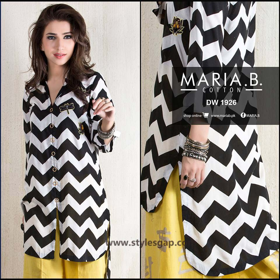 Maria B Printed & Embroidered Tunics Designs Collection 2016-2017 (3)