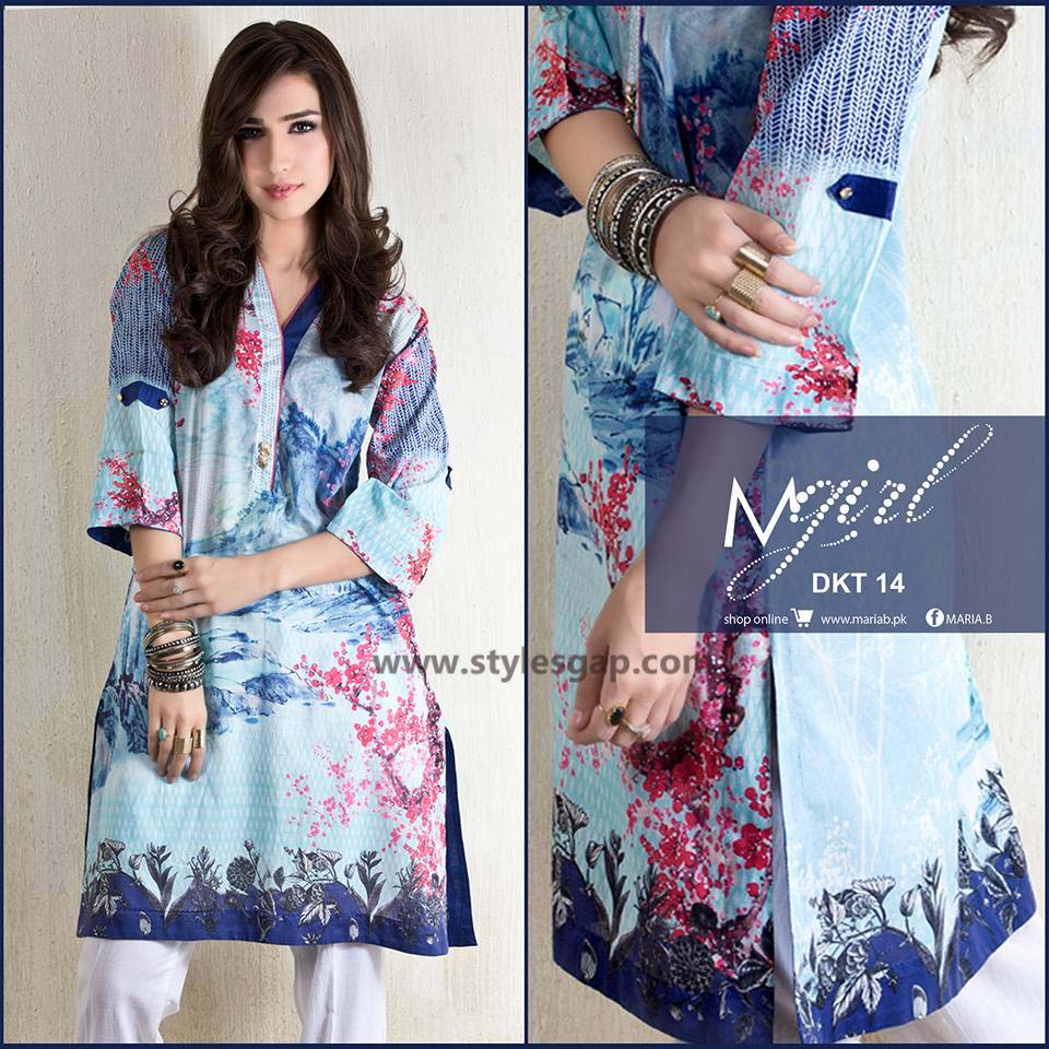 Maria B Printed & Embroidered Tunics Designs Collection 2016-2017 (4)