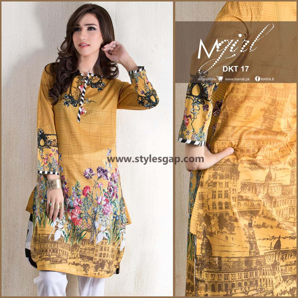 Maria B Printed & Embroidered Tunics Designs Collection 2016-2017 (5)