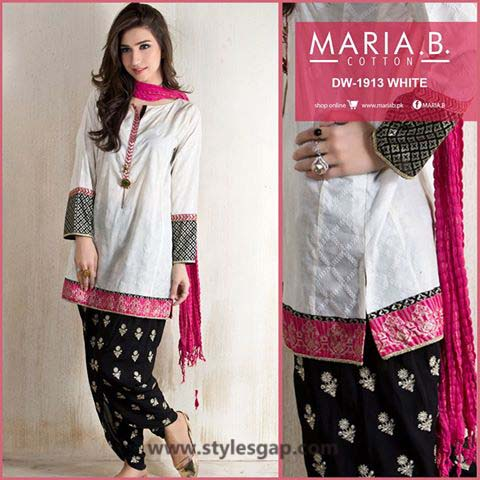 Maria B Printed & Embroidered Tunics Designs Collection 2016-2017 (6)