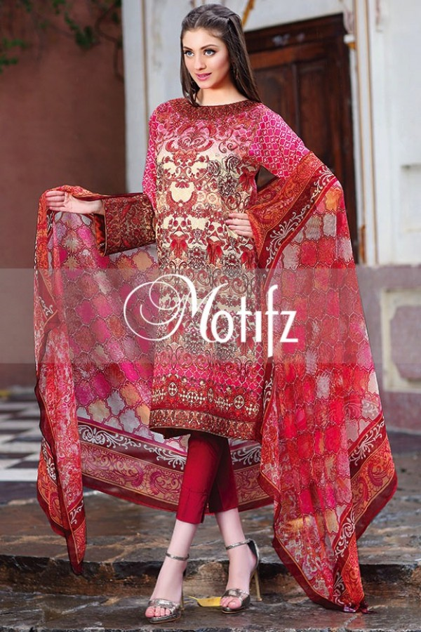 Motifz Summer Embroidered Lawn Dresses Collection 2016-2017 (23)