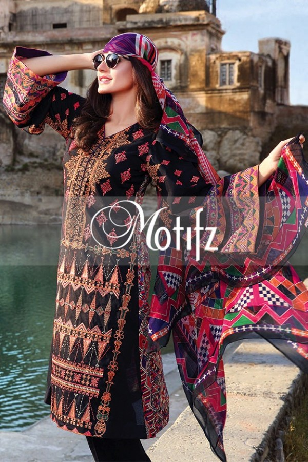 Motifz Summer Embroidered Lawn Dresses Collection 2016-2017 (26)