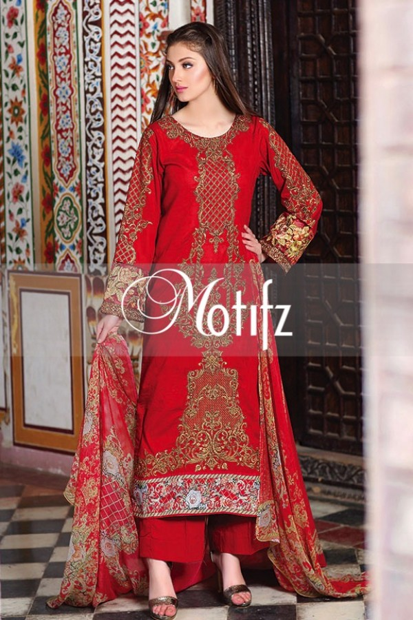 Motifz Summer Embroidered Lawn Dresses Collection 2016-2017 (28)