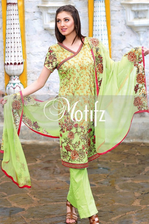 3ae822202f34 Motifz Summer Embroidered Lawn Dresses Collection 2016-2017 (33 ...