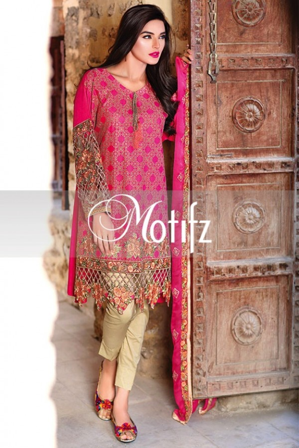 Motifz Summer Embroidered Lawn Dresses Collection 2016-2017 (36)