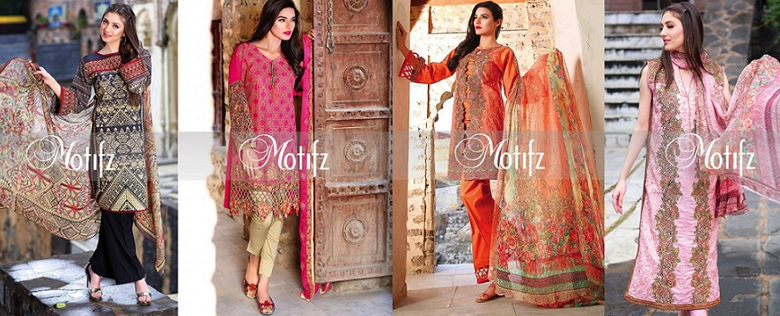 Motifz Summer Embroidered Lawn Dresses Collection 2016-2017