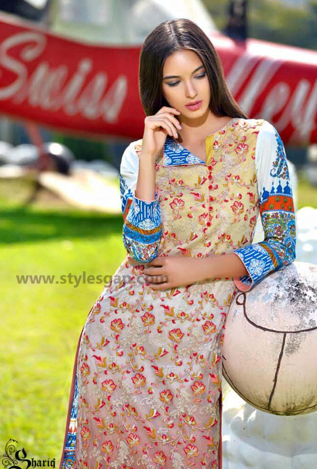 Sanam Chottani Printed & Embroidered Tunics Designs Collection 2016-2017 (2)