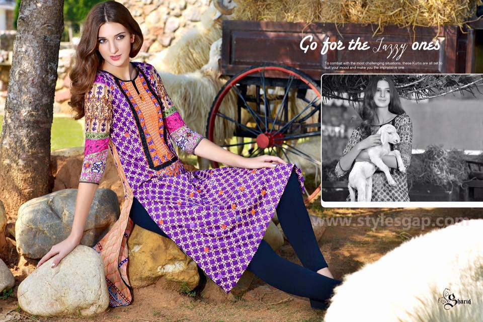 Sanam Chottani Printed & Embroidered Tunics Designs Collection 2016-2017 (4)