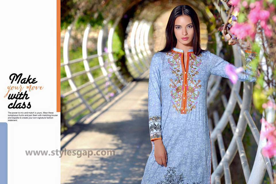 Sanam Chottani Printed & Embroidered Tunics Designs Collection 2016-2017 (5)