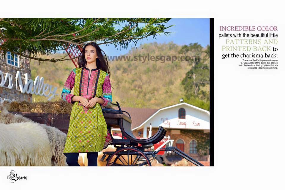 Sanam Chottani Printed & Embroidered Tunics Designs Collection 2016-2017 (6)