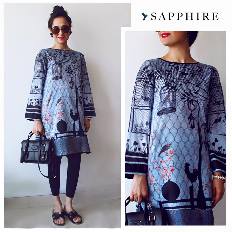Sapphire Lawn Summer Collection 2016-2017