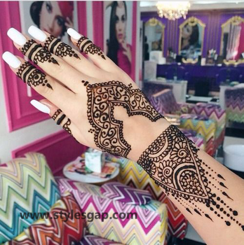 Simple & Easy Eid Mehndi Designs 2016-2017 Latest Collection (11)