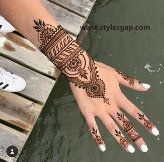 Simple & Easy Eid Mehndi Designs 2016-2017 Latest Collection (16)
