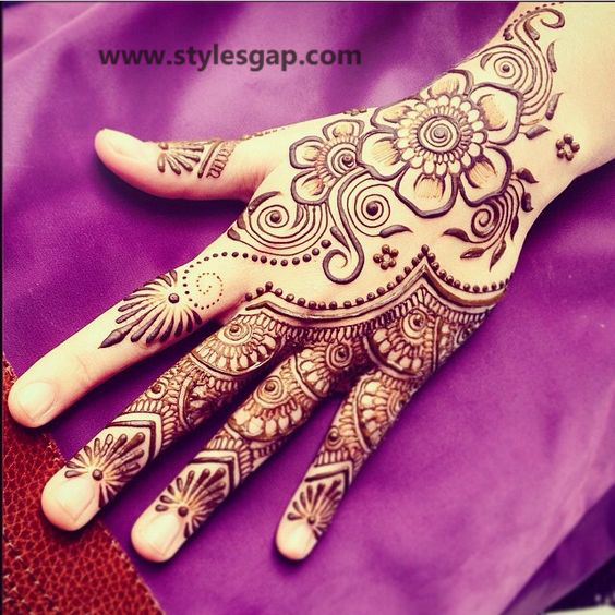 Simple & Easy Eid Mehndi Designs 2016-2017 Latest Collection (17)
