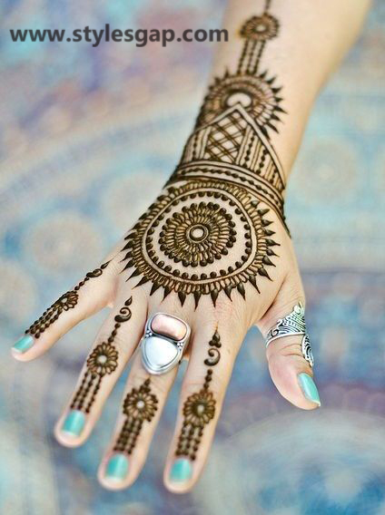 Simple amp easy eid mehndi designs 2016 2017 latest collection 18