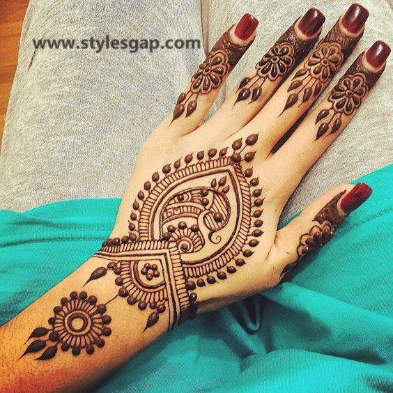 Simple & Easy Eid Mehndi Designs 2016-2017 Latest Collection (19)