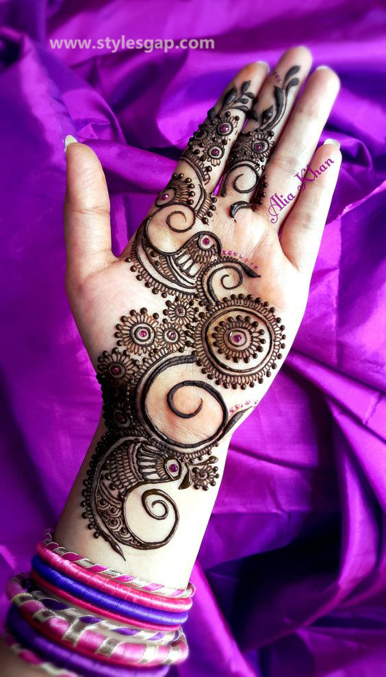 Simple & Easy Eid Mehndi Designs 2016-2017 Latest Collection (20)