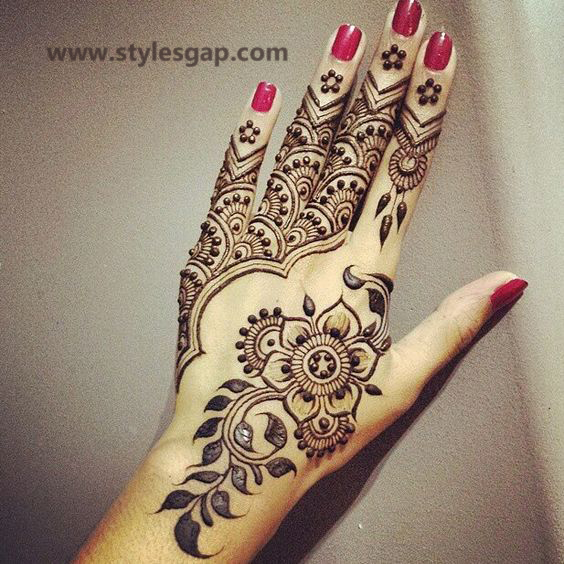 Simple & Easy Eid Mehndi Designs 2016-2017 Latest Collection (21)