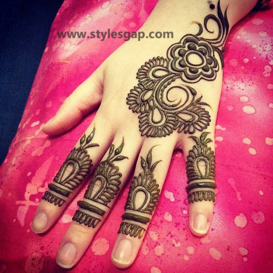 Simple & Easy Eid Mehndi Designs 2016-2017 Latest Collection (22)