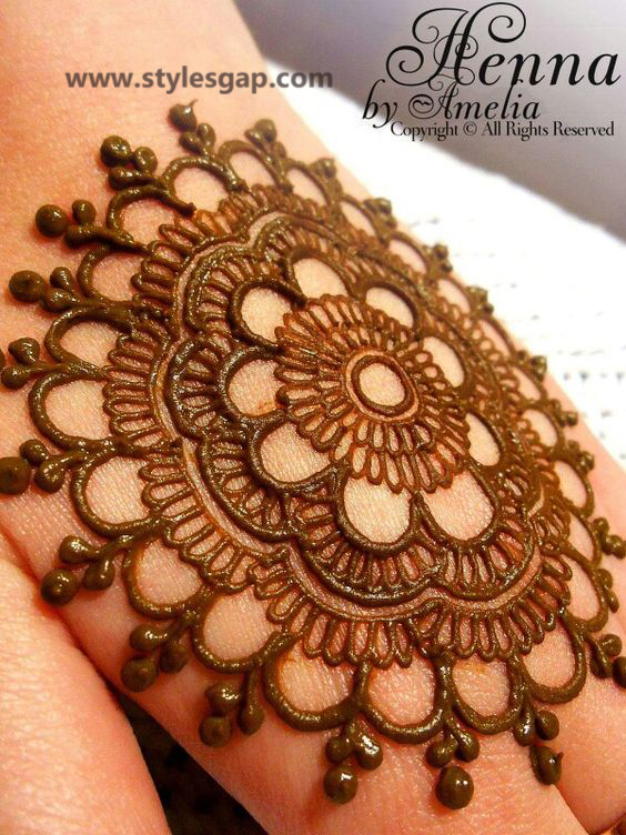 Simple & Easy Eid Mehndi Designs 2016-2017 Latest Collection (25)