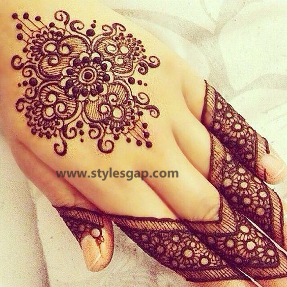 Simple & Easy Eid Mehndi Designs 2016-2017 Latest Collection (26)