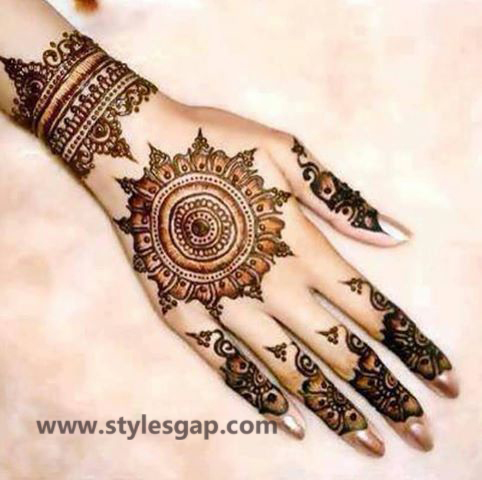 Simple & Easy Eid Mehndi Designs 2016-2017 Latest Collection (27)