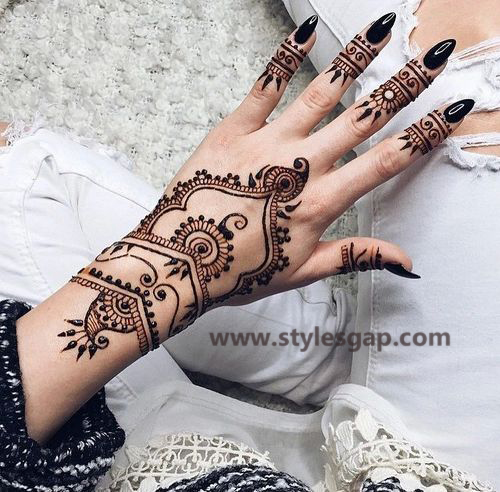 Simple & Easy Eid Mehndi Designs 2016-2017 Latest Collection (28)