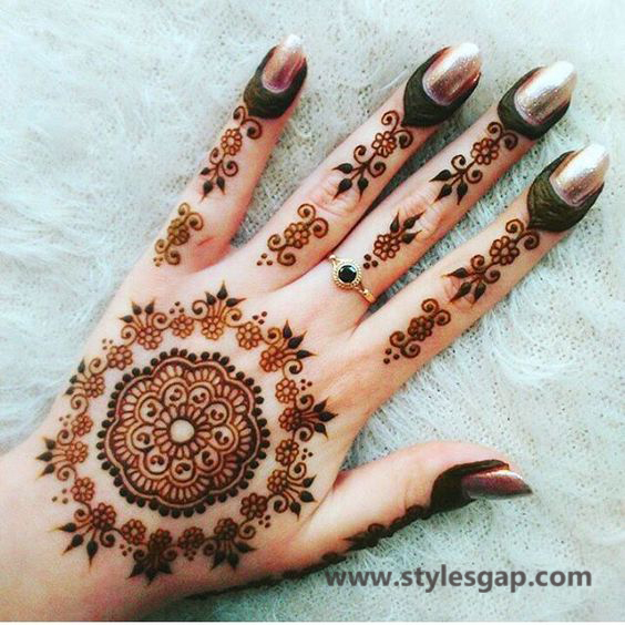 Simple & Easy Eid Mehndi Designs 2016-2017 Latest Collection (32)