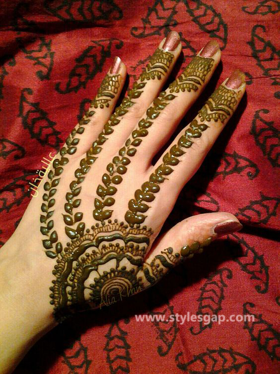 Simple & Easy Eid Mehndi Designs 2016-2017 Latest Collection (33)