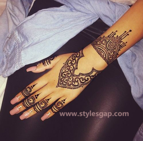 Simple & Easy Eid Mehndi Designs 2016-2017 Latest Collection (35)