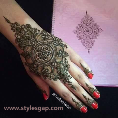 Simple & Easy Eid Mehndi Designs 2016-2017 Latest Collection (37)
