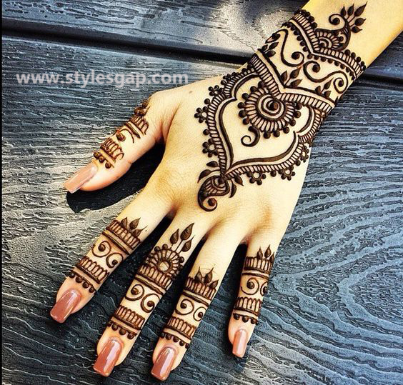 Simple & Easy Eid Mehndi Designs 2016-2017 Latest Collection (39)